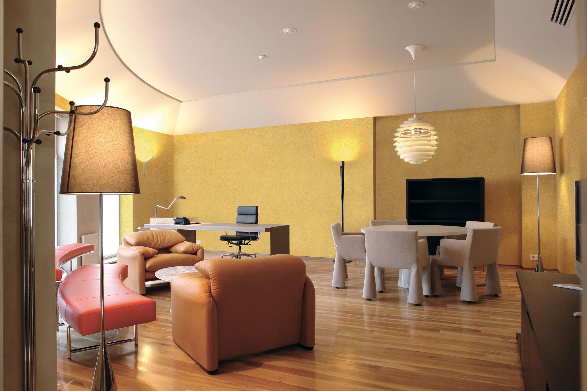Sabulador l 39 arte del decoro for Pittura soggiorno moderno
