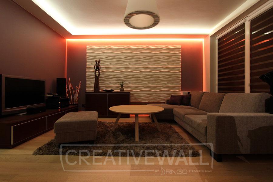 Loft design system pannelli 3d in gesso l 39 arte del decoro - Pannelli decorativi 3d ...